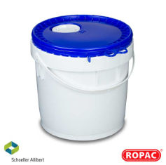 10 litre UN Liquid White with Blue Flex-Spout Lid