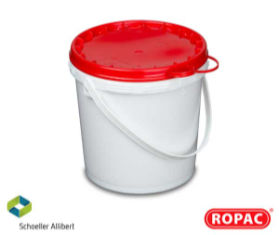 5 Litre UN Solid White with Red Lid