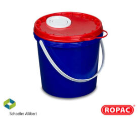 5 Litre UN Solid - Blue with Red Flex-Spout Lid