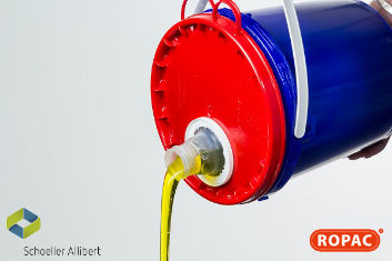 6 Litre Bucket with Red Flex-Spout Lid - Lubricants