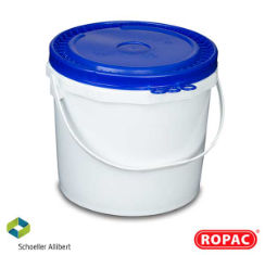 15 Litre UN Solid White with Blue Lid