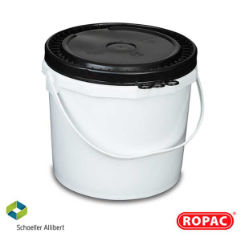 15 Litre UN Solid White with Black Lid