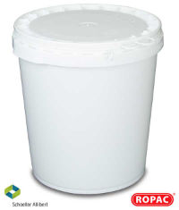32 Litre UN Solid White with White Lid